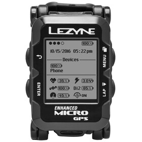 Lezyne Micro GPS Watch mit Herzfrequenzmessgerät schwarz